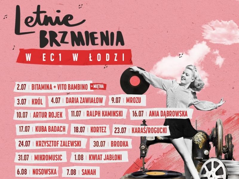 Letnie brzmienia w EC1 Łódź lato w Łodzi